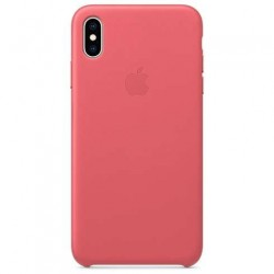 Apple iPhone XS Max Leather Case - Peony Pink MTEX2ZM/A