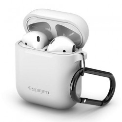 Spigen puzdro Silicone Case pre Apple Airpods - White 066CS24809