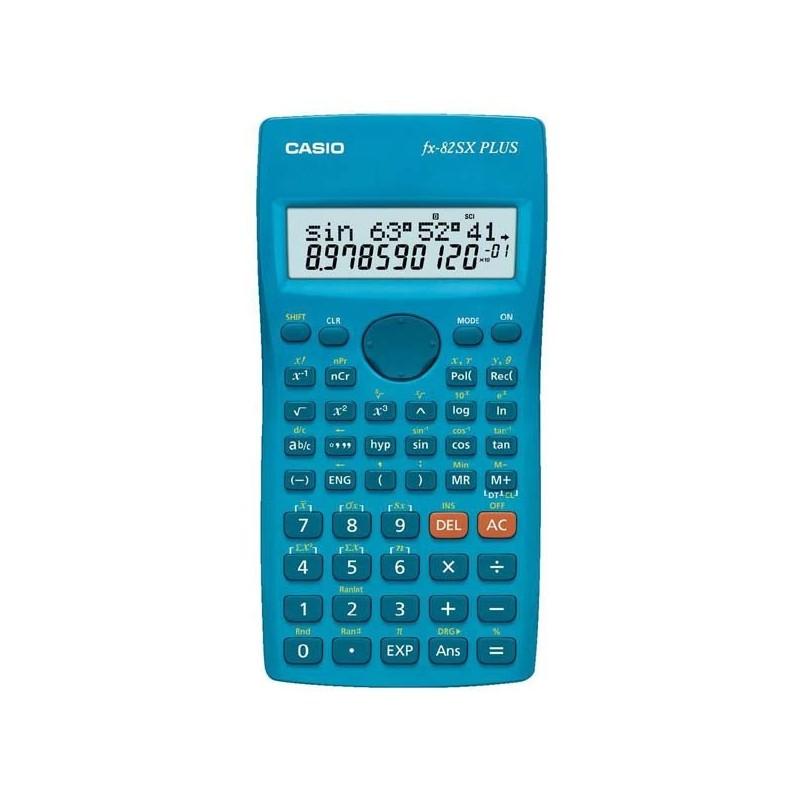 Kalkulačka Casio, FX 82SX PLUS, modrá, školská, dvanásťmiestna