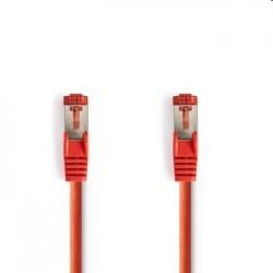 Nedis patch kábel Cat6, S/FTP - 5m, červený CCGP85121RD50