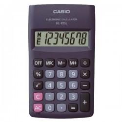 Kalkulačka Casio, HL 815L BK, čierna, vrecková, osemmiestna