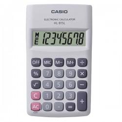 Kalkulačka Casio, HL 815L WE, biela, vrecková, osemmiestna