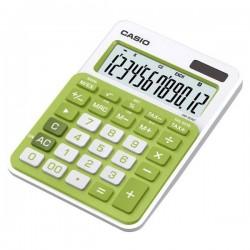 Kalkulačka Casio, MS 20 NC, zelená, stolná, dvanásťmiestna