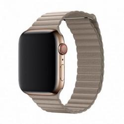 Devia Apple Watch Elegant Leather Loop (40mm) Stone 6938595325144