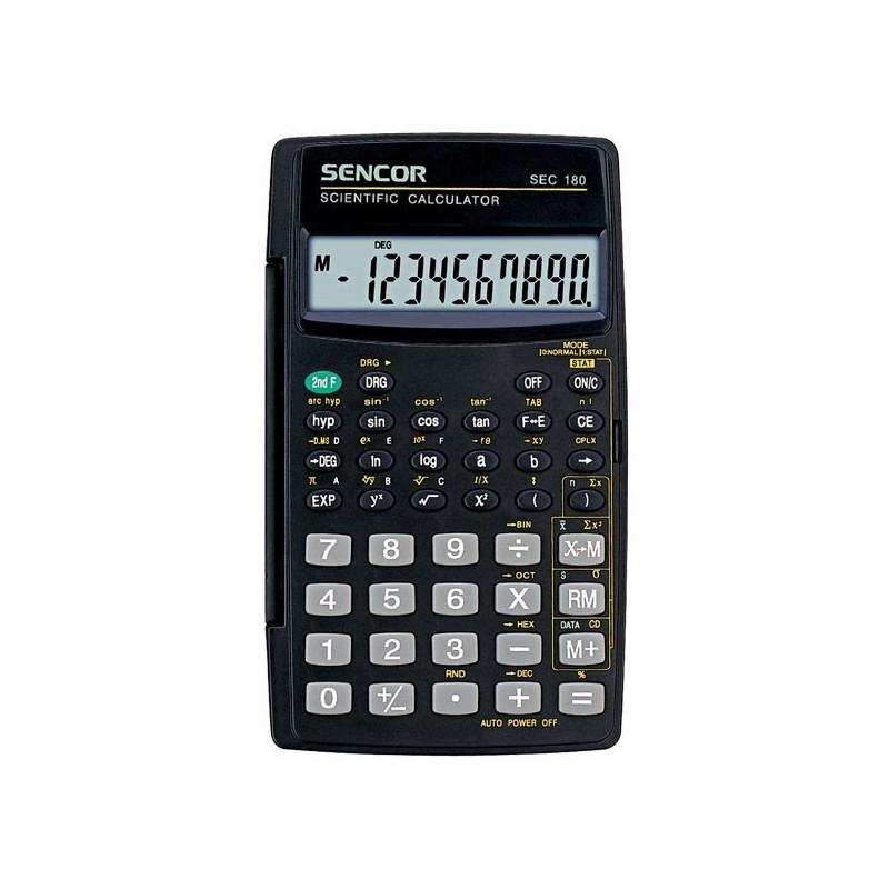 Kalkulačka Sencor, SEC 180, čierna, školská, desaťmiestna