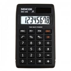 Kalkulačka Sencor, SEC 250, čierna, stolná, osemmiestna