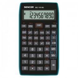 Kalkulačka Sencor, SEC 105 BU, čierna, školská, desaťmiestna, modrý rámček
