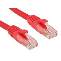 OXnet patch kábel Cat5E, UTP - 0,5m, červený PKOX-U5E-005-RD