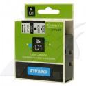 Dymo originál páska do tlačiarne štítkov, Dymo, 45803, S0720830, čierny tlač/biely podklad, 7m, 19mm, D1