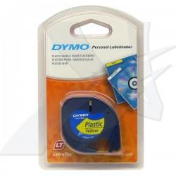 Dymo originál páska do tlačiarne štítkov, Dymo, 59423, S0721570, čierny tlač/žltý podklad, 4m, 12mm, LetraTag páska