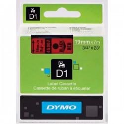 Dymo originál páska do tlačiarne štítkov, Dymo, 45807, S0720870, čierny tlač/červený podklad, 7m, 19mm, D1