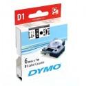 Dymo originál páska do tlačiarne štítkov, Dymo, 43613, S0720780, čierny tlač/biely podklad, 7m, 6mm, D1