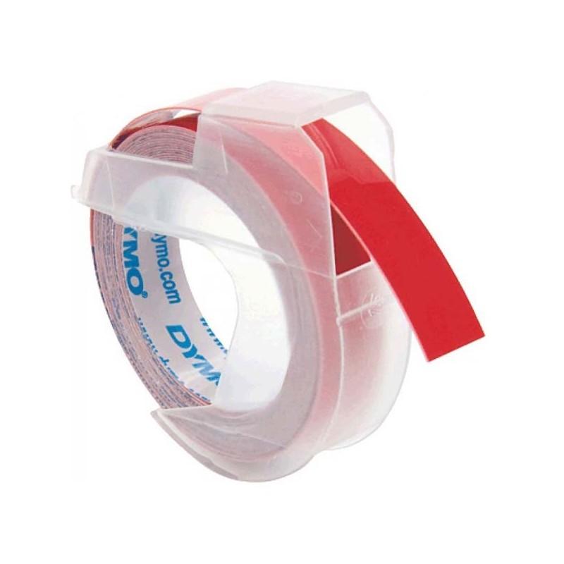Dymo originál páska do tlačiarne štítkov, S0898150, biely tlač/červený podklad, 3m, 9mm, balené po 10 ks, cena za 1 ks