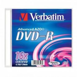 Verbatim DVD-R, 43547, DataLife PLUS, 20-pack, 4.7GB, 16x, 12cm, General, Standard, slim box, Matte Silver