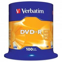 Verbatim DVD-R, 43549, DataLife PLUS, 100-pack, 4.7GB, 16x, 12cm,...