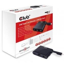 Club 3D USB Type-C to Ethernet + USB 3.0 + USB Type-C Charging Mini...