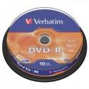 Verbatim DVD-R, 43523, DataLife PLUS, 10-pack, 4.7GB, 16x, 12cm, General, Advanced Azo+, cake box, Scratch Resistant