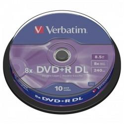 Verbatim DVD+R, 43666, DataLife PLUS, 10-pack, 8.5GB, 8x, 12cm, General, Double Layer, cake box, Matt Silver