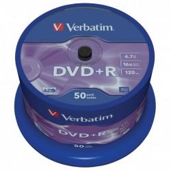 Verbatim DVD+R, 43550, DataLife PLUS, 50-pack, 4.7GB, 16x, 12cm, General, Advanced Azo+, cake box, Scratch Resistant