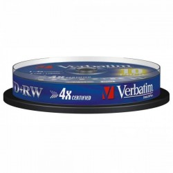 Verbatim DVD+RW, 43488, DataLife PLUS, 10-pack, 4.7GB, 2-4x, 12cm, General, Standard, cake box, Scratch Resistant