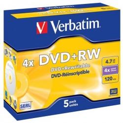 Verbatim DVD+RW, 43229, DataLife PLUS, 5-pack, 4.7GB, 4x, 12cm,...