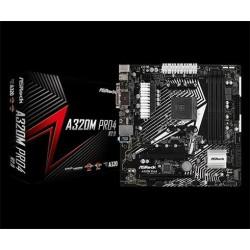 Asrock A320M Pro4-R2.0, AMD A320M, 4xDDR4, HDMI, D-SUB, DP, 2x M.2,...