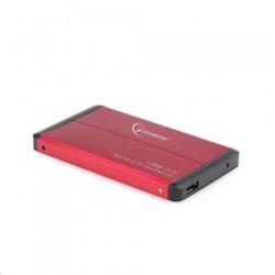"""Externý box GEMBIRD pre 2.5"""" HDD, USB 3.0, SATA, červený EE2-U3S-2-R"""
