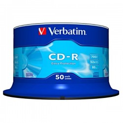 Verbatim CD-R, 43351, DataLife, 50-pack, 700MB, Extra Protection, 52x, 80min., 12cm, cake box, Standard