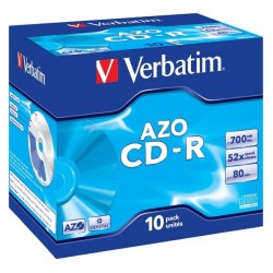 Verbatim CD-R, 43327, DataLife PLUS, 10-pack, 700MB, Super Azo,...