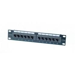 "CNS 10"" patch panel 12port Cat6, UTP, blok 110, 1U, černy 4062"