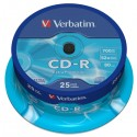 Verbatim CD-R, 43432, DataLife, 25-pack, 700MB, Extra Protection, 52x, 80min., 12cm, cake box
