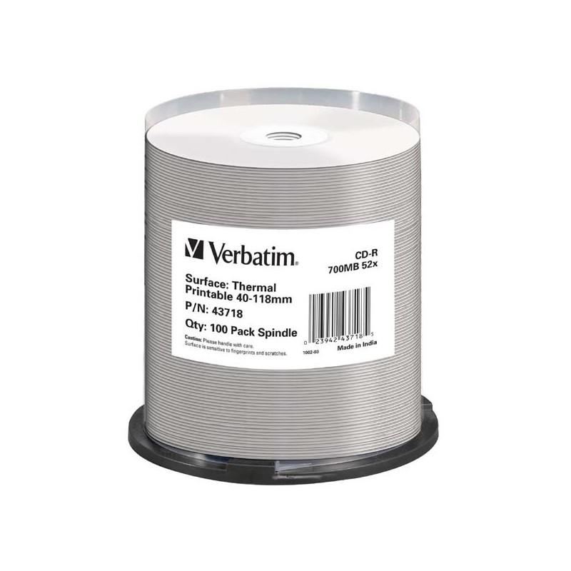 Verbatim CD-R, 43718, Thermal Surface For Rimage Prism, 100 ks, 700MB, 52x, cake box