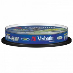 Verbatim CD-RW, 43480, DataLife PLUS, 10-pack, 700MB, Advanced Serl, 8-12x, 80min., 12cm, Scratch Resistant