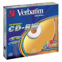 Verbatim CD-RW, 43167, DataLife PLUS, 5-pack, 700MB, Serl, 8-12x,...