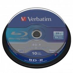 Verbatim BD-R, Single Layer 25GB, cake box, 43742, 6x, 1, pre archiváciu dát