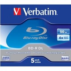 Verbatim BD-R, Dual Layer 50GB, jewel box, 43748, 6x, 1 ks, pre archiváciu dát