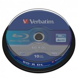 Verbatim BD-R, Dual Layer 50GB, cake box, 43746, 6x, 1, pre...