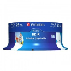 Verbatim BD-R SL, Hard Coat protective layer 25GB, spindle, 43811,...
