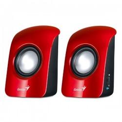 Genius reproduktory SP-U115, 2.0, 3W, ovládanie hlasitosti, červeno-čierna, USB+3.5mm konektor 31731006101