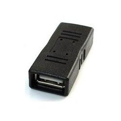 Gembird adaptér - spojka USB 2.0 (F) na USB 2.0 (F), čierny...