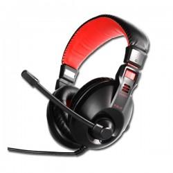 E-Blue, Conqueror I., slúchadlá s mikrofónom, ovládanie hlasitosti, čierna, 3.5 mm jack konektor EHS011BK