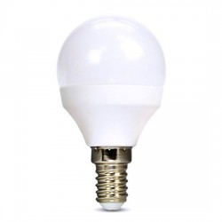 Solight LED žiarovka, miniglobe, 6W, E14, 4000K, 510lm, biele...