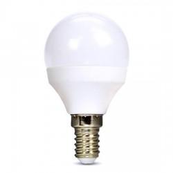 Solight LED žiarovka, miniglobe, 6W, E14, 3000K, 510lm, biele...