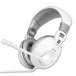 E-Blue, Conqueror I., slúchadlá s mikrofónom, ovládanie hlasitosti, biela, 3.5 mm jack konektor EHS011WH