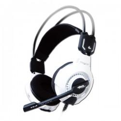 E-Blue, Mazer Type X 7.1, herné slúchadlá s mikrofónom, ovládanie hlasitosti, biela, LED podsvietenie, USB EHS015WH
