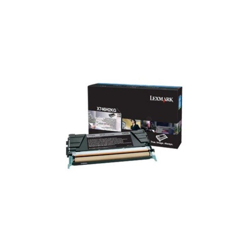 Lexmark X746, X748 Black High Yield Return Program Toner Cartridge 12K X746H3KG
