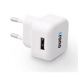 Crono univerzální USB nabíječka,  1x USB, 1000 mA, bílá CB10062
