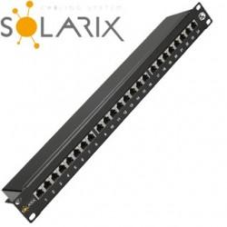 """SOLARIX 19"""" Patch panel 24 x RJ45 CAT5E ST SX24-5E-STP-BK"""