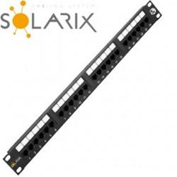 """SOLARIX 19"""" Patch panel 24 x RJ45 CAT5E UTP 150 MH SX24-5E-UTP-BK"""