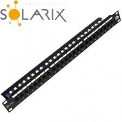 """SOLARIX 19"""" Patch panel 24 x RJ45 CAT5E UT SX24L-5E-UTP-BK"""
